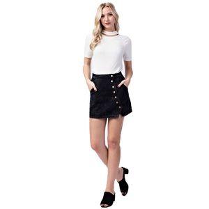 HoneyBelle Vintage Black Denim Wrap Skirt
